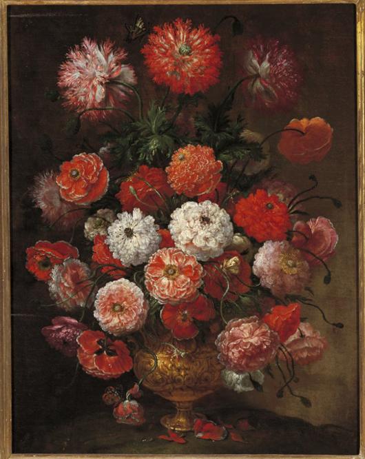 Bartolomeo Bimbi Rosolacci in un vaso di metallo 1717